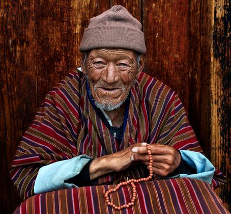 Bhutan old man