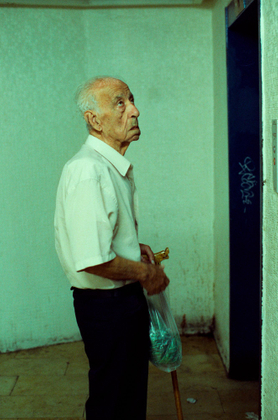 Old Man at Central Bus Station, Tel Aviv.