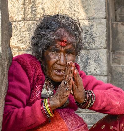 Ritratto in preghiera Namasté