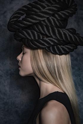 Klara with a headpiece