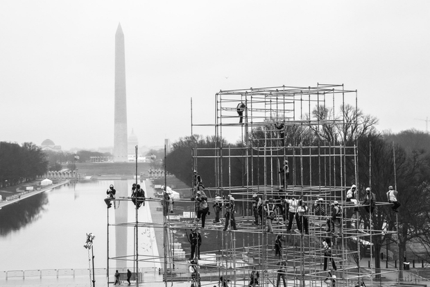 Morning of the Women's March, National Mall, Washington D.C.