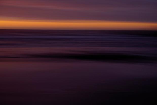 Pacific Coast Sunset 1 - Intentional Camera Movement