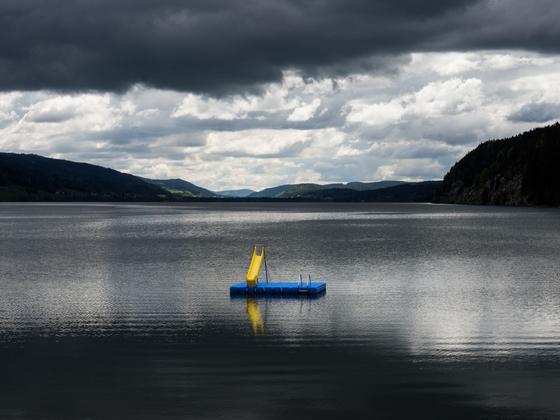 Lac de Joux, dark weather