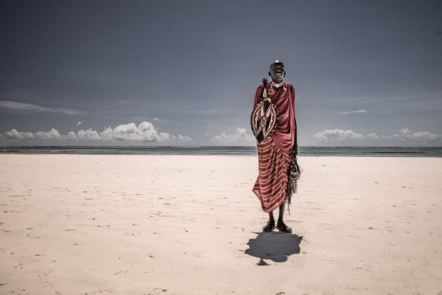 Vendor at a beach near Mombassa