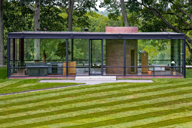 Exterior of Glass House