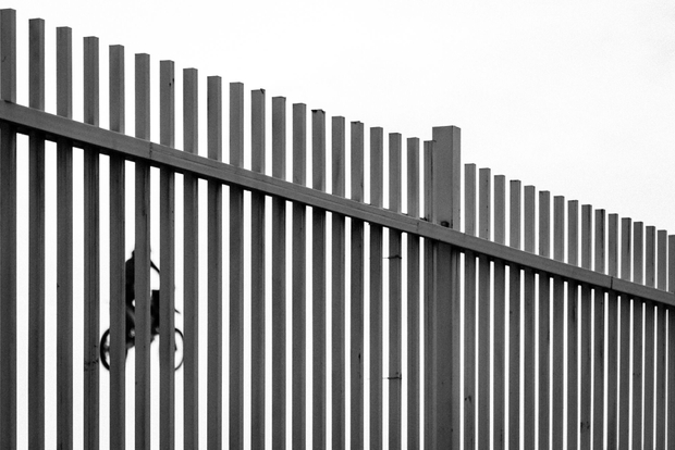 Behind the fences