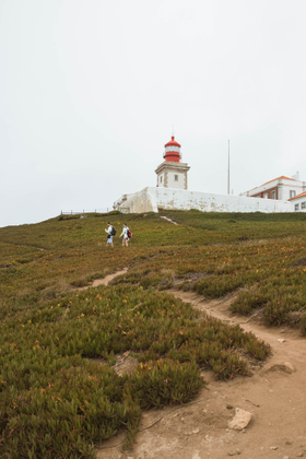 A lighthouse by the westernmost point of continental Europe.