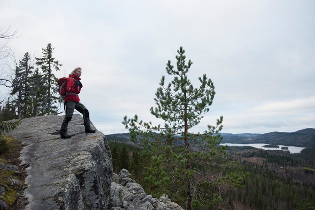 Lennu and the cliff in Koli, Lieksa