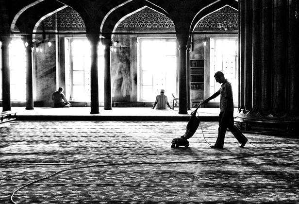Cleaning the Mosque