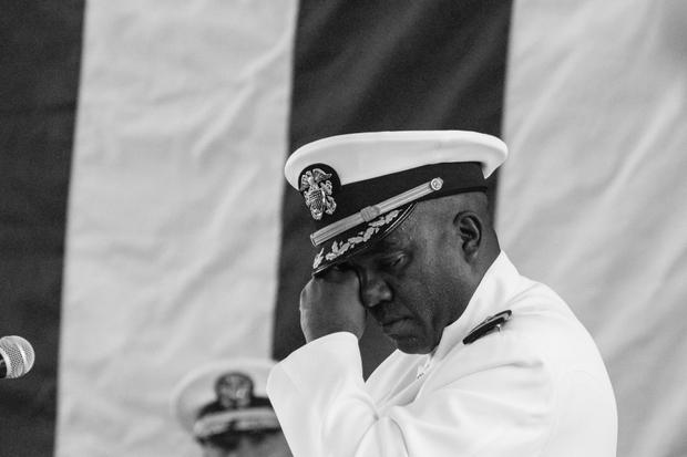 Saying Goodbye to his Navy
