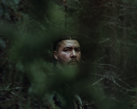 Ishkādi Na-Dene from the Tahltan First Nation is photographed at the Unist'ot'en Camp in northern British Columbia, October 16, 2015. Rafal Gerszak/Boreal Collective