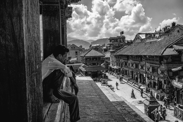 Looking out over Bhaktapur