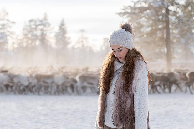 Elena with Reindeer