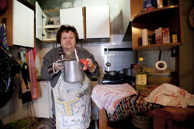 Aunt Janna in the kitchen