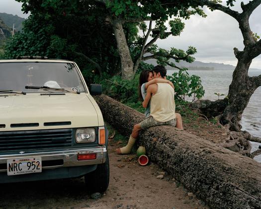 Couple Kissing, Hawaii 2014