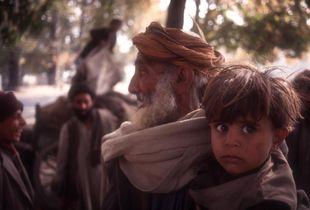Nomadic family, Kashmir
