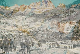 The Cortina ski run map 2016 -  the people that's go to the competition Cortina 1956