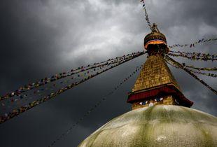Bodhnath Under Monsoon Skies