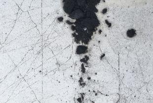 White paint cracking