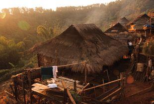 A Lahu-Shi Village at Dawn