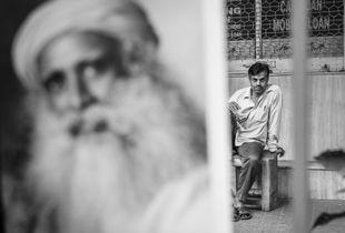 Portrait in the Street in Kolkata - India.