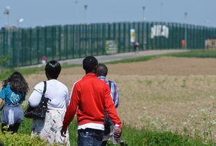 Migrant detention centre 127bis, Brussels, Belgium