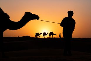 A boy and his camel