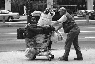 Street Cart Man from Street Sleeper Series