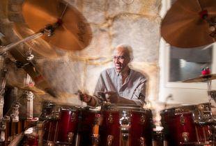 Drummer rehearsing