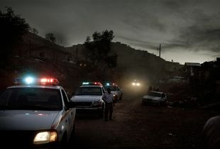 Police in Nogales, Sonora conduct a street sweep for drug dealers and drug users.  Cities along the US-Mexican border have always existed in their own space, defined more by their position between two countries than their presence in one of them.  With border security increasing, more smuggling is now conducted in the Sonoran desert rather than through cities. © David Rochkind