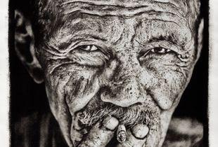 "Severo, ""the last charcoal burners""  Cuba (gum bichromate print 78 x 106 cm)"