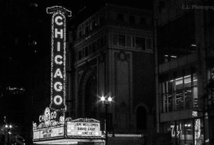 The Chicago Theatre in Summer