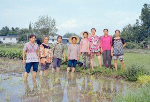 6.Farm women in the field, Luojianian Village, 2016