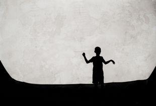 Boy and Moon Shadows