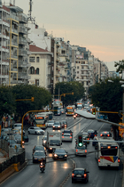 Rush Hour from Egnatia Street in Thessaloniki