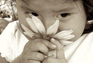 Child w Flower