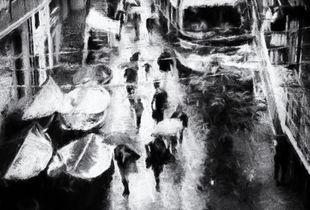 Rain in the fishing village