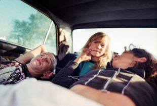 Family living in a car