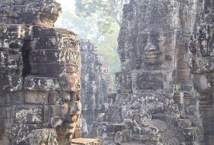 Bayon Temple at Angkor Thom, Cambodia