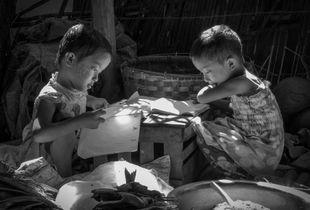 Homework, Bagan, Myanmar