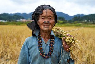 Apatani woman in Arunachal Pradesh, India