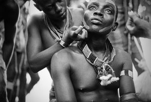 Ritual Bodypainting for the Bulljumping Ceremony in the Hamar Tribe