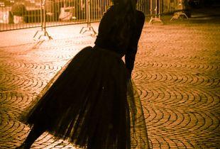Ballerina in the dark.