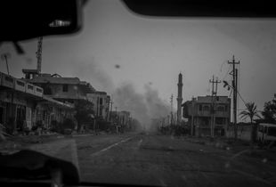 Fallujah after Iraqi army operation against ISIS and liberation of city which turned it into ruins.