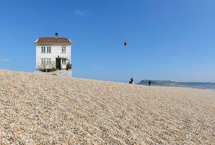 My house, Chesil beach, Dorset, England