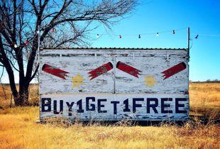 """Buy 1 Get 1 Free"" Near Clarendon, Texas, 2008"
