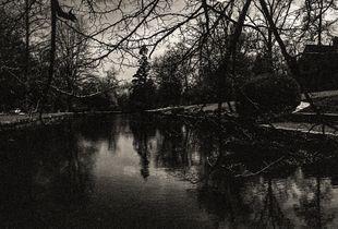 Evil dark lake hides evil eye