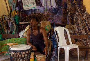 Rehearsal space of Theatre Centrik, Bariga, Lagos, Nigeria