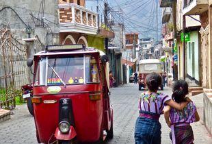 Santiago Atitlan Tuk Tuk &  Local Girls