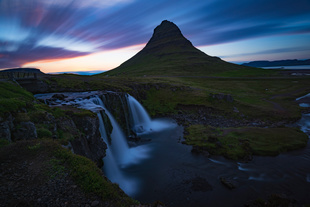 Summer Light Show: Midnight Sunset at Kirkjufell (West Iceland)